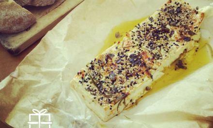 Baked feta with rosemary & oregano