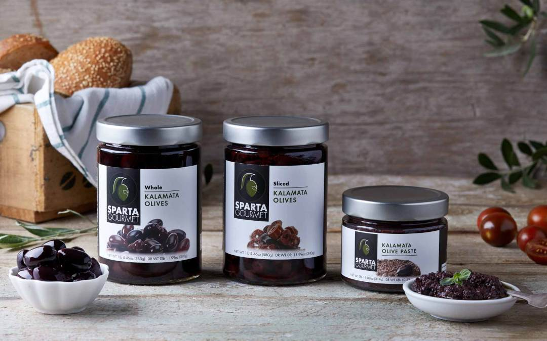 Sparta Gourmet pate and olives