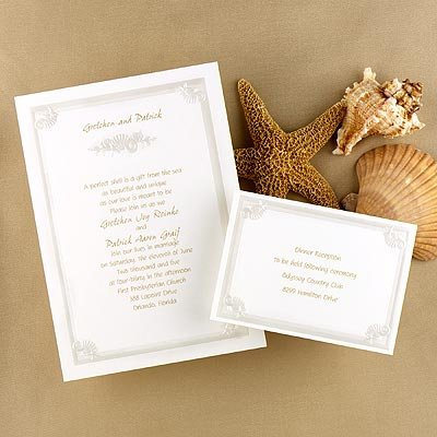 Elegant Beach Wedding Invitations  monticcy beach wedding