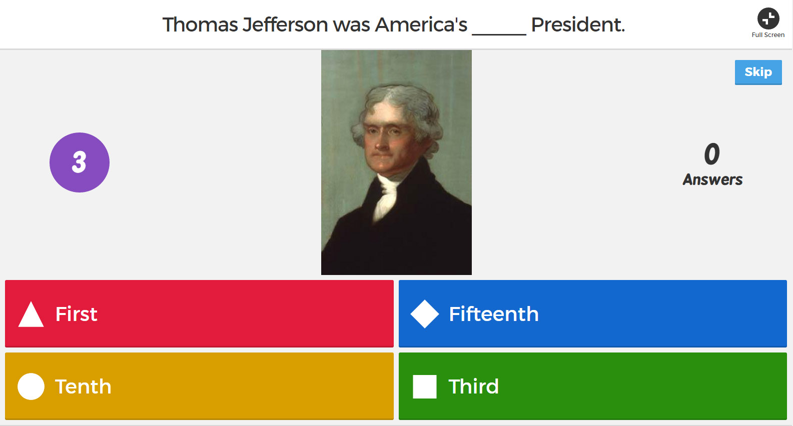Kahoot Kahoot Quizzes Thomas Jefferson S Monticello