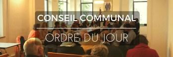 [ORDRE DU JOUR] Conseil communal du jeudi 16 Novembre 2017