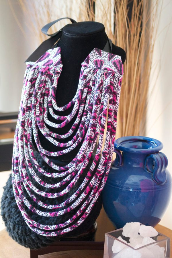 DIY African Fabric Rope Necklaces
