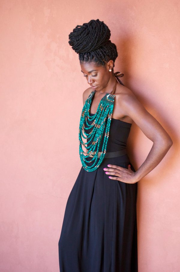 DIY African Fabric Necklace Tutorial