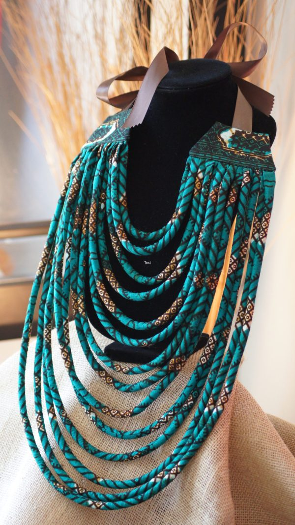 African Fabric Necklace DIY