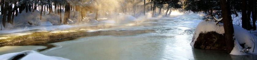 La rivière en hiver