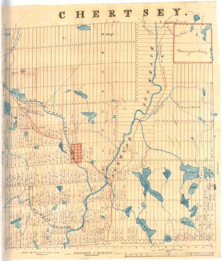 Carte de Chertsey en 1860 - F. Quinn
