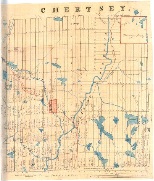 Carte de Chertsey 1855 environ
