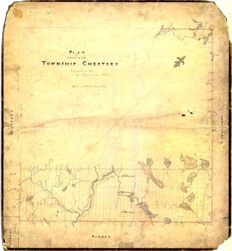 1848 arpentage des 3 premiers rangs de Chertsey