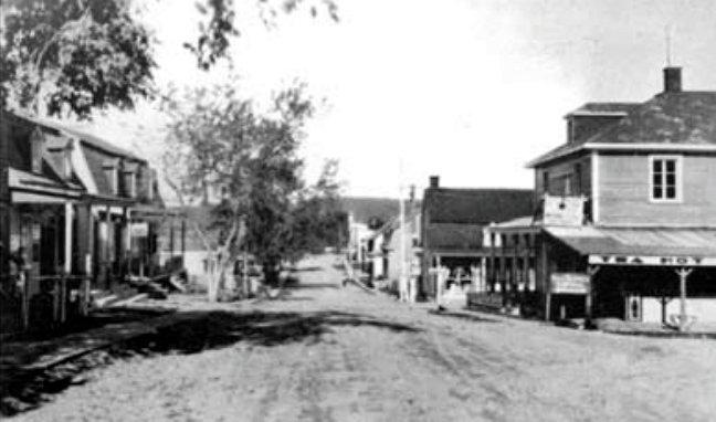 Rue de l'Église vers 1935