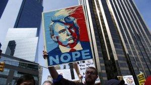Manifestation contre Trump