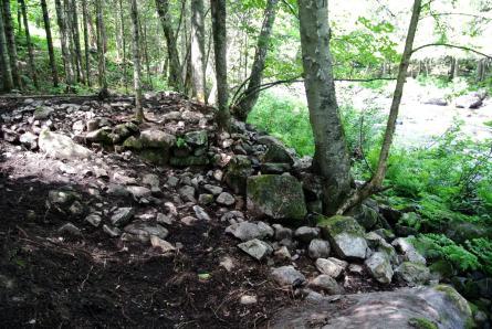 Vestiges du moulin: fouilles