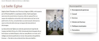 Site internet de la municipalité de Chertsey