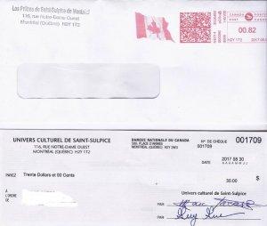 Un chèque du séminaire