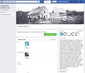 Groupe privé Facebook, histoire de Chertsey