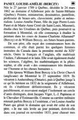 Biographie Louise-Amélie Panet