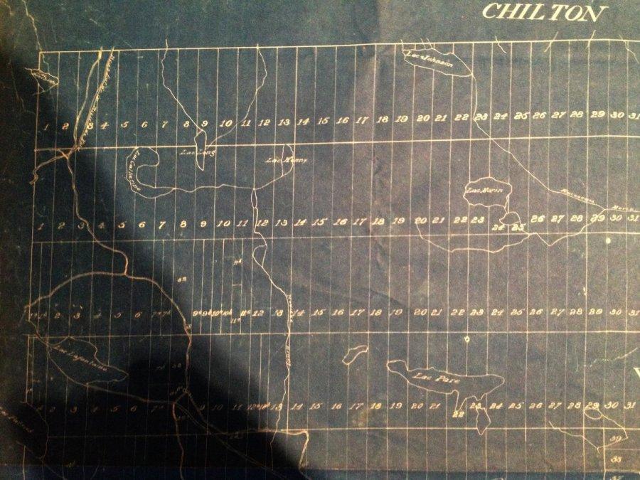 Carte de Chertsey en 1893: nord-ouest