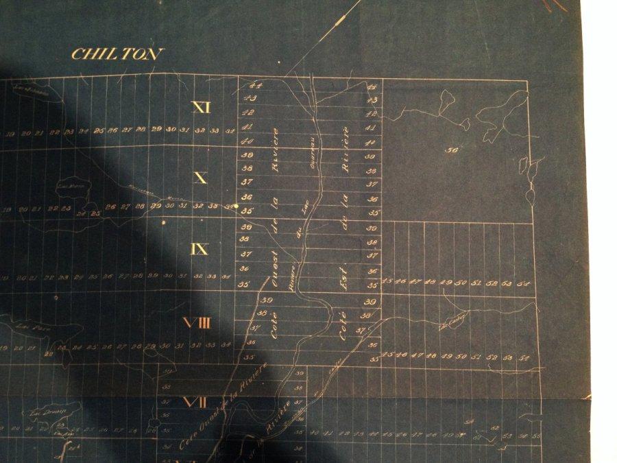 Carte de Chertsey en 1893: nord-est