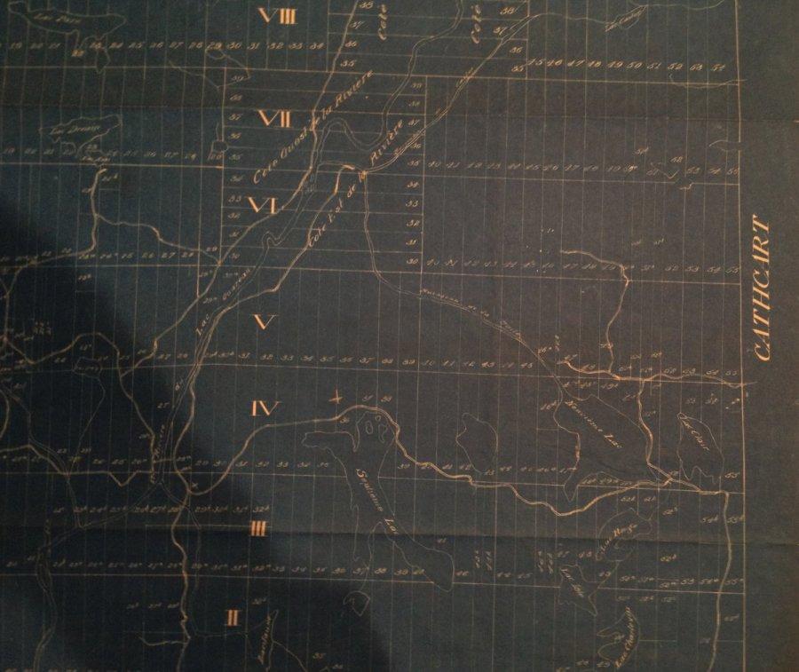 Carte de Chertsey en 1893: est