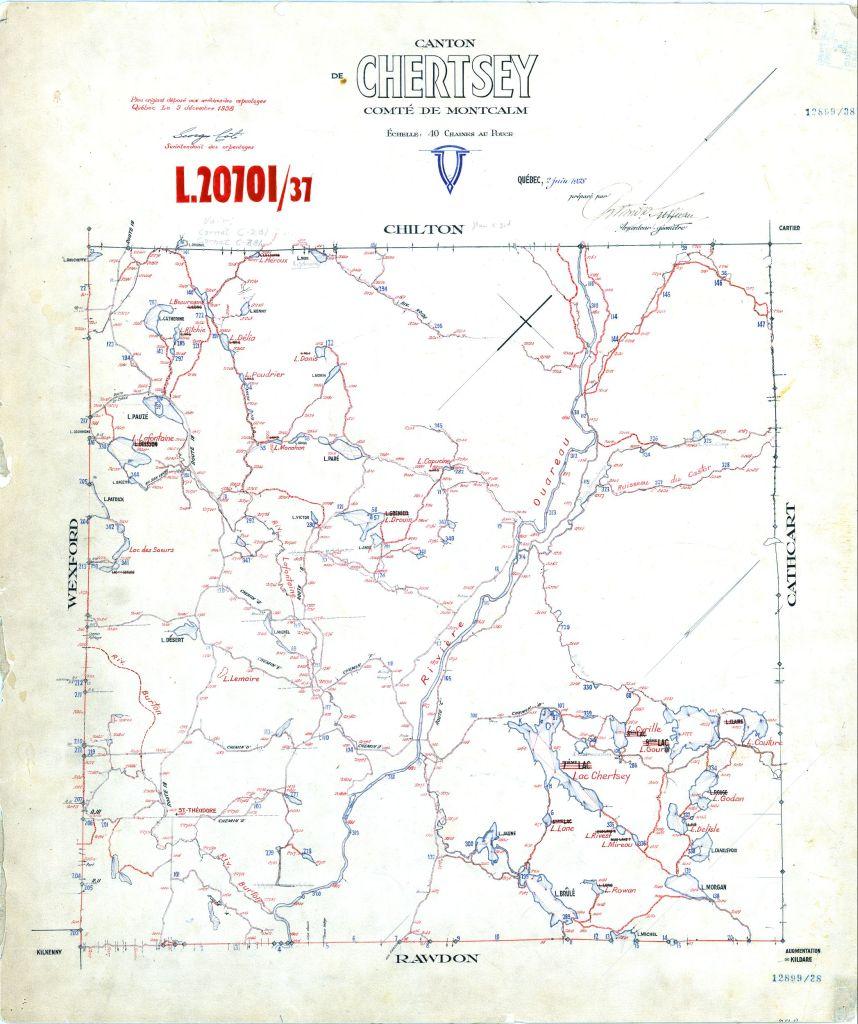 Carte de Chertsey 1938