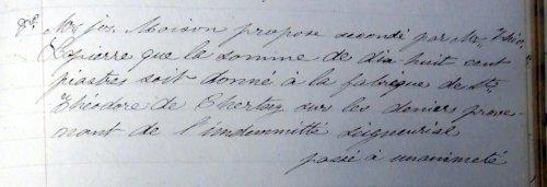 Registre de la municipalité de Chertsey