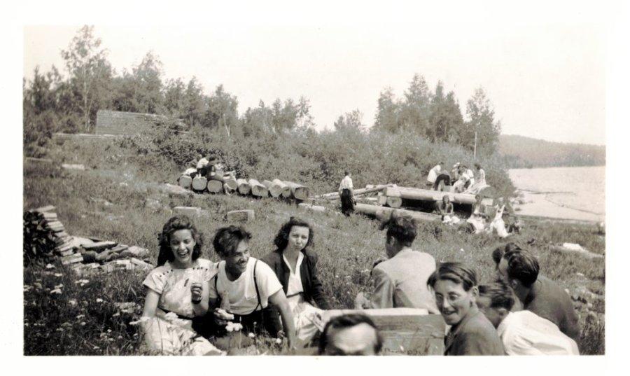Roger Miron en visite à Chertsey