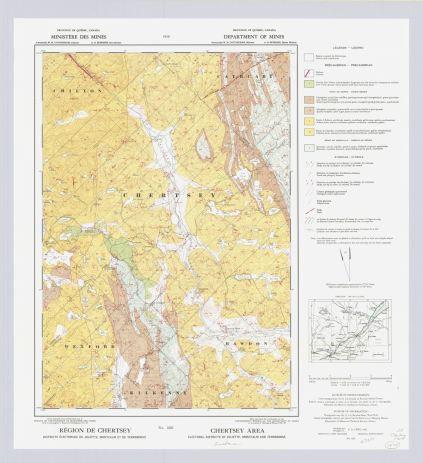 Carte géologique de Chertsey