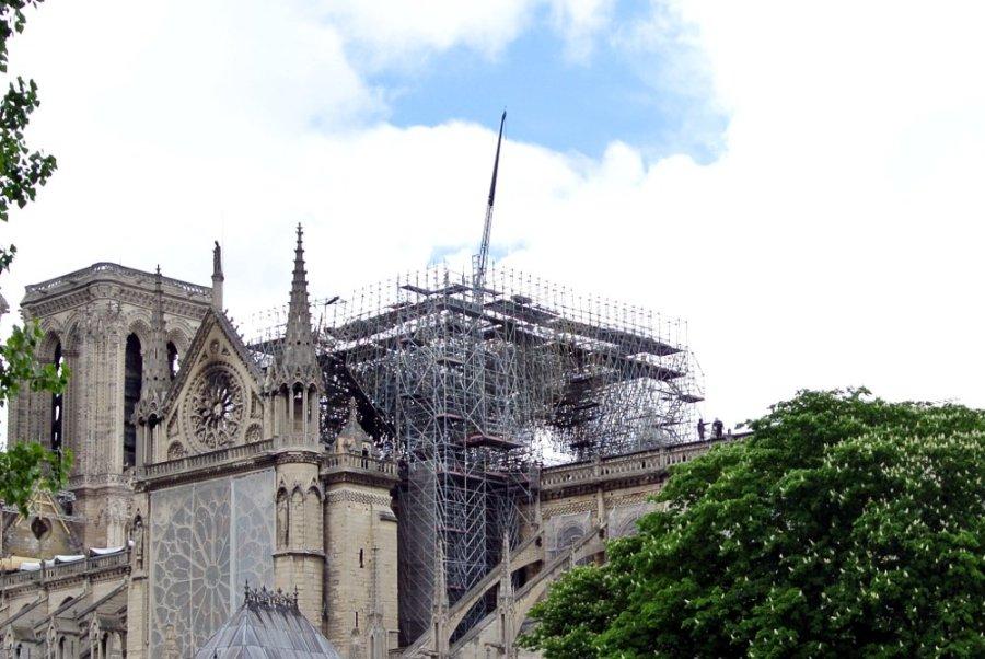 Notre-Dame de Paris, 25 avril 2019 (détail)