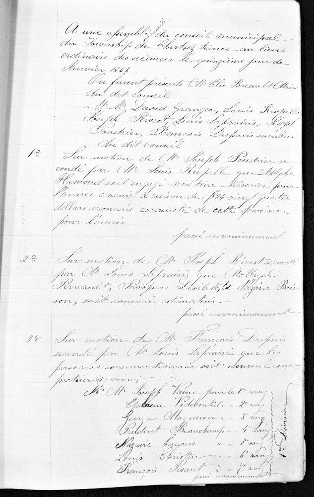 Assemblée du 15 janvier 1866 (1)