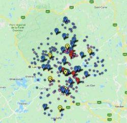 Carte interactive de Chertsey