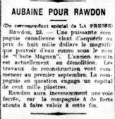 La Presse 23 août 1906