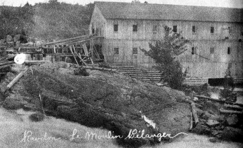 Le moulin des frères Bélanger (Col. M. Fournier)