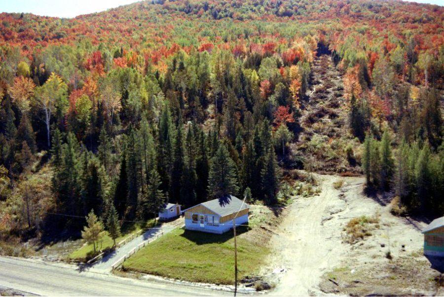 Chertsey 1978: chemin du lac d'Argent, la Montagne-à-Miron