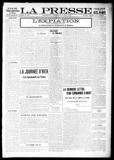La Presse 20 mai 1898