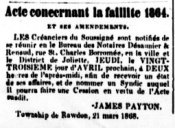 La Gazette de Joliette 9 avril 1868