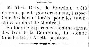 L'union des Cantons de L'Est 15 janvier 1874