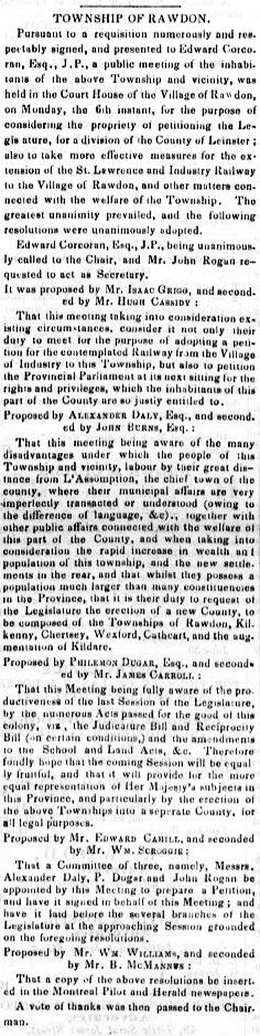 Montreal Herald 18 mai 1850