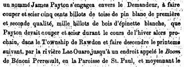 Alexander Daly, agent des Terres de la Couronne de Rawdon