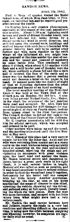 Daily Witness 10 avril 1882