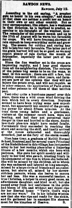 Daily Witness 17 juillet 1882