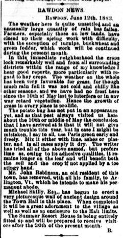 Daily Witness 13 juin 1883