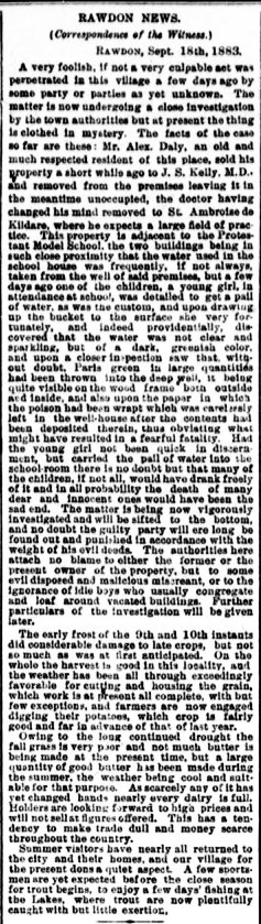 Daily Witness 22 septembre 1883