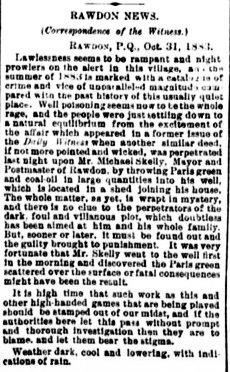 Daily Witness 3 novembre 1883