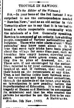 Daily Witness 7 novembre 1883