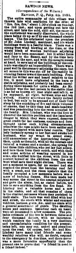 Daily Witness 6 février 1884