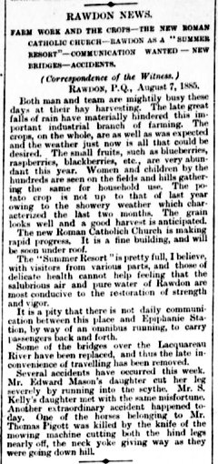 Daily Witness 10 août 1885
