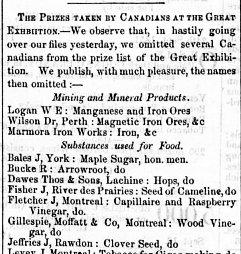 Montreal Herald 3 novembre 1851