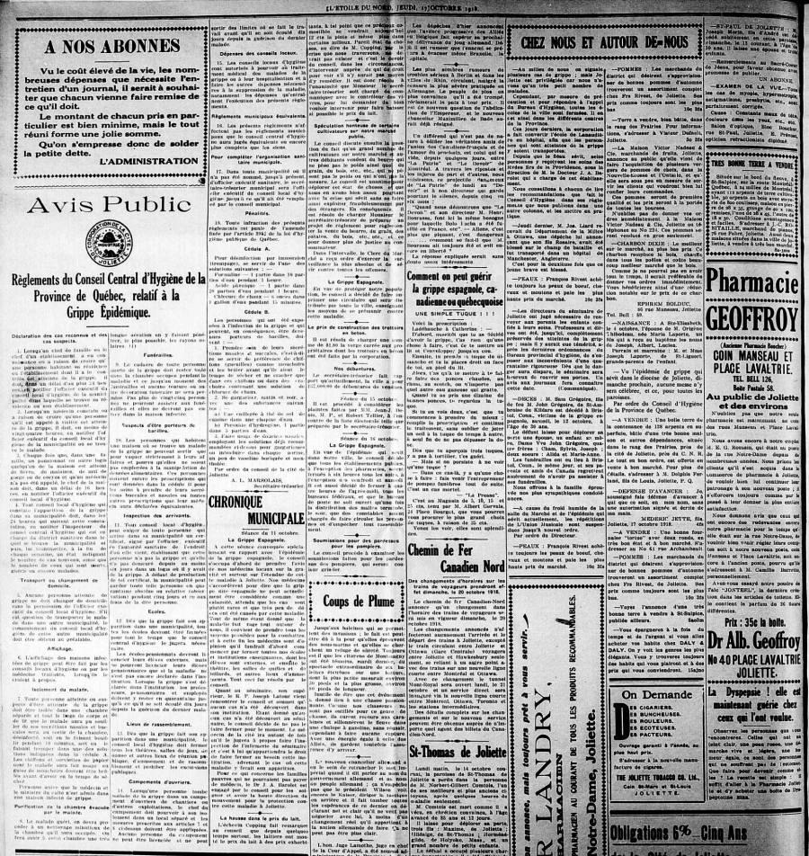 L'Étoile du Nord 17 octobre 1918