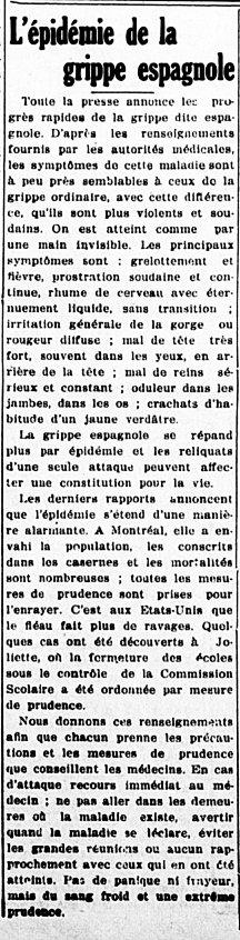 L'Étoile du Nord 10 octobre 1918