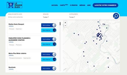 Le panier bleu du Québec: page d'accueil