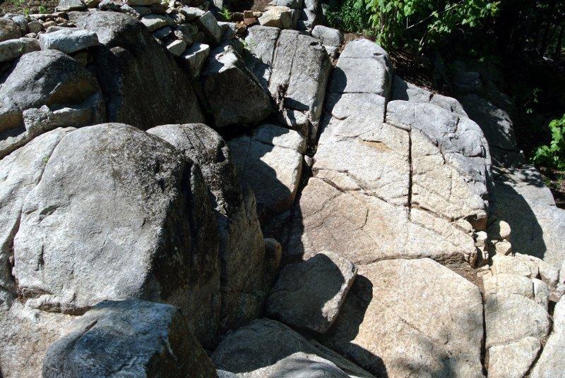 Un cap de roche sculpté